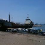 épaves en bord de plage
