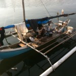 pêcheurs en pause déj