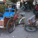 garage à becak