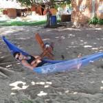 sieste on the beach
