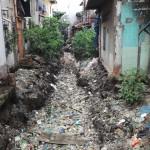 rivière de déchets