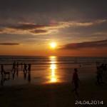 1er coucher de soleil sur Kuta