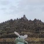 Pinpin likes Borobudur