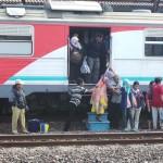 descente de train