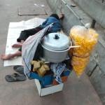 vendeur fatigué