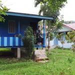 notre bungalow avant et après le trek