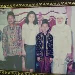 Lisma plus jeune avec sa famille