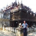 pagode patinée au pétrole