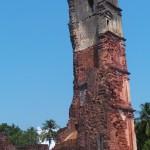 vestige d'église à Goa