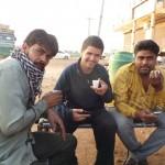 camion-stop et pose chai
