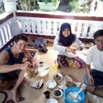 repas entre amis le midi