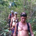 trek à poil dans la jungle