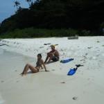 plage déserte sur coral island