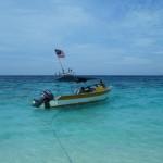 notre bateau qui prend l'eau