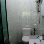 douche et chiottes collées