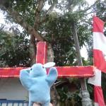Pinpin enchaîné à la croix