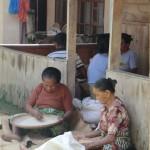 préparation riz pour cérémonie