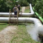 canalisation d'eau chaude soufrée