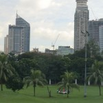 Manille et son golf en plein centre...