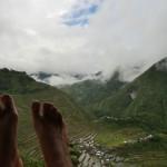 les pieds en éventail
