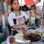 vendeuse de sucettes végétales