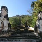 escaliers menant au temple