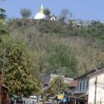 colline surplombant la ville