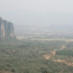 vue sur Vang Vieng au loin