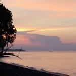 coucher de soleil depuis la maison