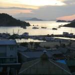 coucher de soleil sur Labuanbajo