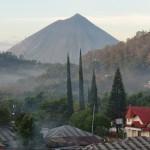 vue depuis l'hôtel à Bajawa