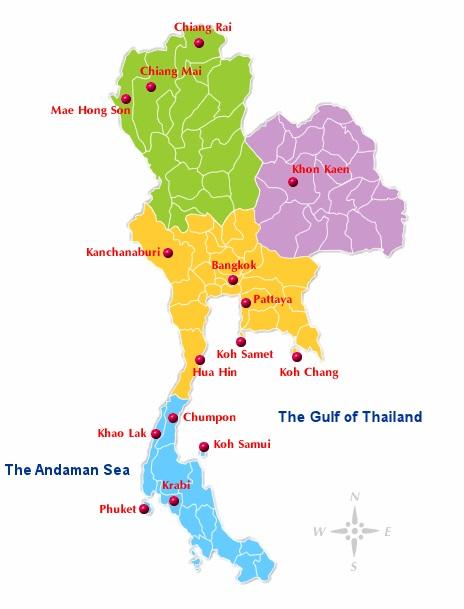 geographie thailande